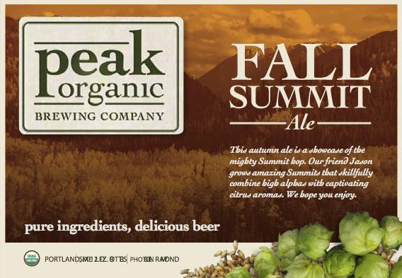 Peak Organic Fall Summit beer Label Full Size