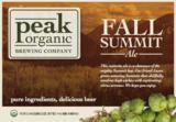 Peak Organic Fall Summit beer