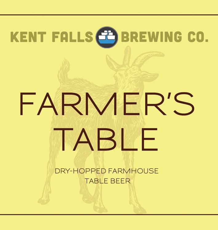 Kent Falls Farmer's Table beer Label Full Size