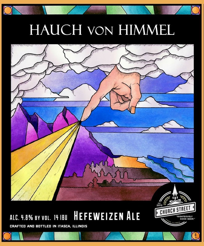 Church Street Hauch Von Himmel Hefeweizen beer Label Full Size