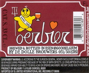 De Dolle Oerbier beer Label Full Size