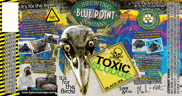 Blue Point Toxic Sludge beer Label Full Size