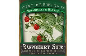 Avery Raspberry Sour beer Label Full Size