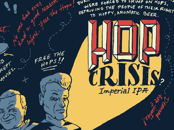 21st Amendment Hop Crisis beer Label Full Size