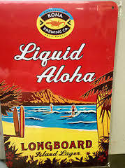 Liquid Aloha Longboard Island Lager beer Label Full Size