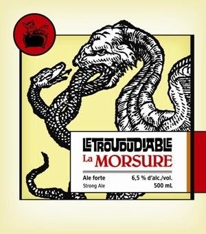 Photo of le trou du diable morsure beer label for Le miroir du diable