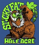 Half Acre Sticky Fat beer