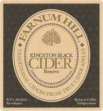 Farnum Hill Kingston Black Reserve Cider beer