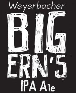 Weyerbacher Big Ern's IPA beer Label Full Size