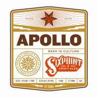 Sixpoint Apollo Wheat beer Label Full Size