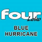 Four Loko Blue Hurricane beer Label Full Size