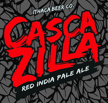 Ithaca Cascazilla Red IPA beer Label Full Size