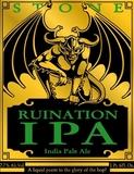 Stone Ruination IPA beer
