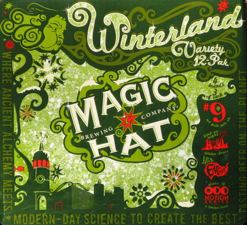 Magic Hat Winterland beer Label Full Size