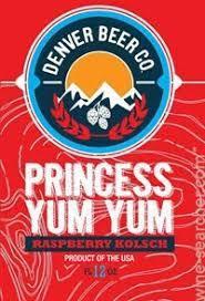 Denver Beer Princess Yum Yum Raspberry beer Label Full Size