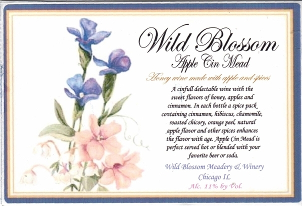 Wild Blossom Apple Cinnamon Mead beer Label Full Size
