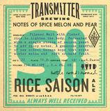 Transmitter S8 Rice Saison beer
