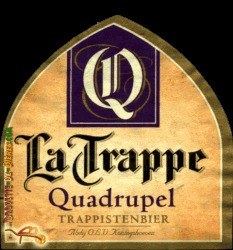 La Trappe Quadrupel beer Label Full Size
