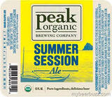 Peak Organic Summer  Session Beer