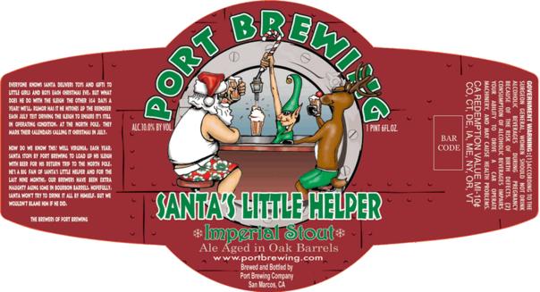 Port Santa's Little Helper Bourbon Barrel beer Label Full Size