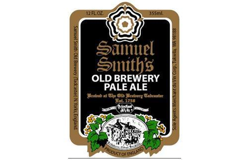 Samuel Smith's Old Brewery Pale Ale beer Label Full Size