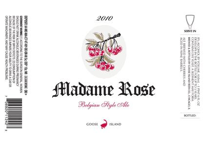 Goose Island Madame Rose beer Label Full Size