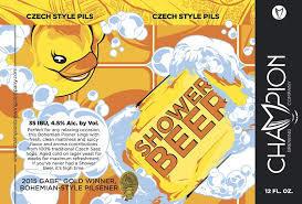 Champion Shower Beer Pilsner beer Label Full Size