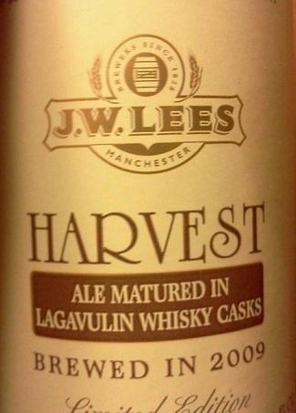 JW Lees Havest Ale Lagavulin 2009 beer Label Full Size