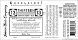 Ithaca Excelsior 13th Anniversary beer