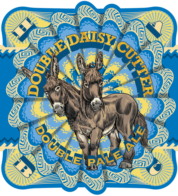 Half Acre Double Daisy Cutter beer Label Full Size