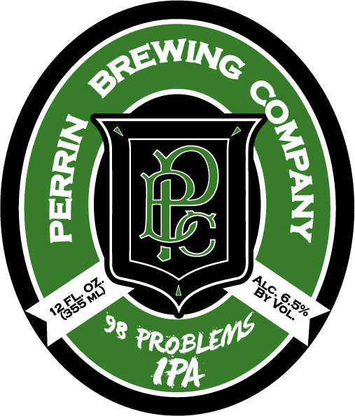 Perrin 98 Problems IPA beer Label Full Size