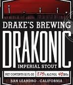 Drake's Drakonic Imperial Stout beer Label Full Size