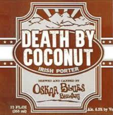 Oskar Blues Death By Coconut beer Label Full Size