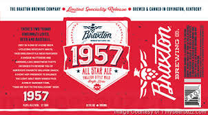 Braxton 1957 All Star Ale beer Label Full Size