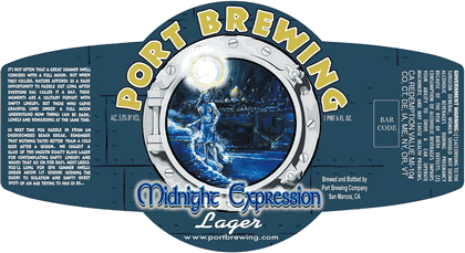 Port Midnight Expression beer Label Full Size