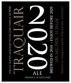 Traquair 2020 beer Label Full Size