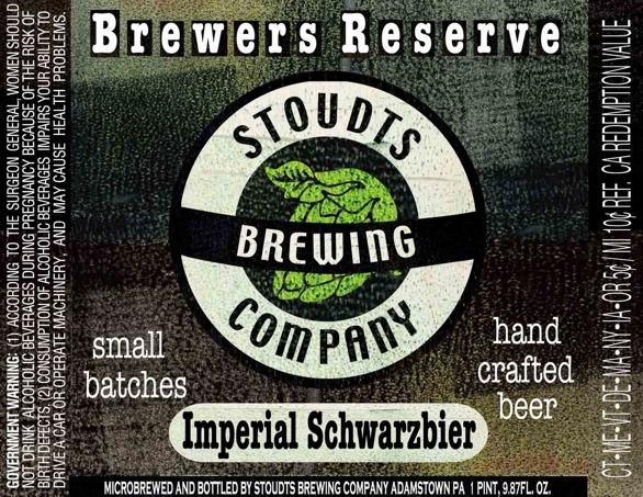 Stoudts Imperial Schwarzbier beer Label Full Size
