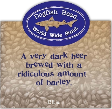 Dogfish Head World Wide Stout 2009 beer Label Full Size
