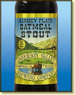 Anderson Valley Oatmeal Stout beer Label Full Size