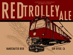 Karl Strauss Red Trolley Ale beer Label Full Size