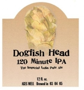 Dogfish Head 120 Minute 2009 beer Label Full Size