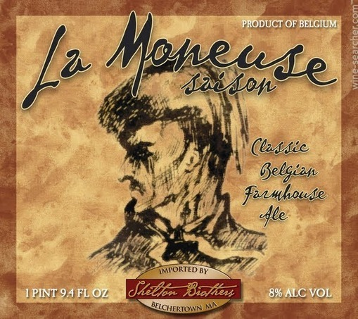 Blaugies La Moneuse Saison beer Label Full Size