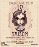 Jolly Pumpkin Baudelaire Series iO Saison Beer
