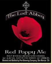 Lost Abbey Red Poppy Ale beer Label Full Size