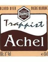 Achel 8 Blond beer Label Full Size