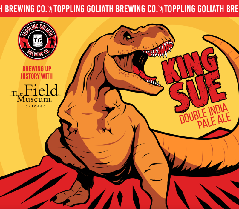Toppling Goliath King Sue beer Label Full Size