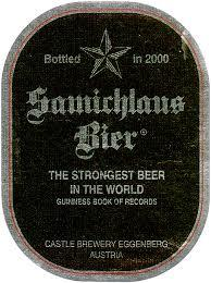 Samichlaus 2010 beer Label Full Size