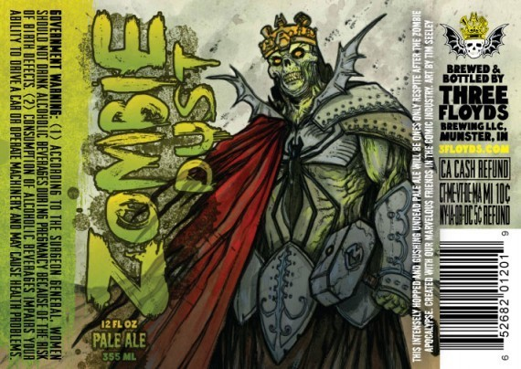 Three Floyds Zombie Dust beer Label Full Size