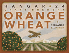 Hangar 24 Orange Wheat beer Label Full Size