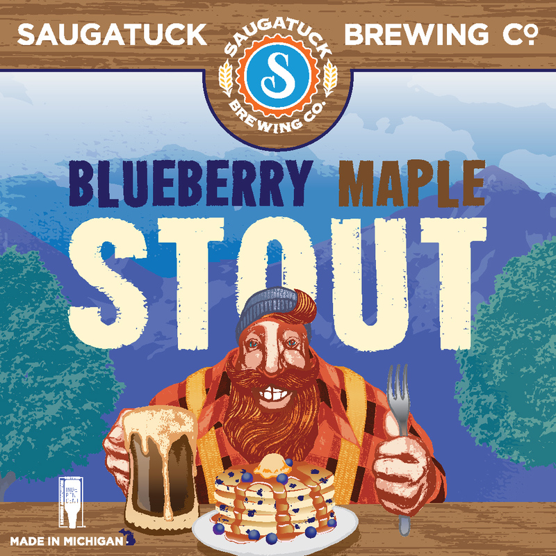 Saugatuck Blueberry Maple Stout beer Label Full Size